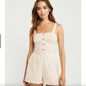Abercrombie & Fitch Button-Up Romper